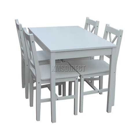 foxhunter solid wooden dining table   chairs set