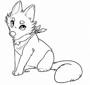 Lines FREE USE fox wolf cub by Rinermai on DeviantArt