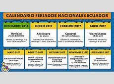 Feriados Ecuador 2017 Ecuador Noticias Noticias de