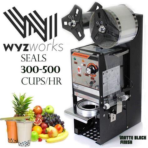 semi automatic cup sealing machine black wyz works