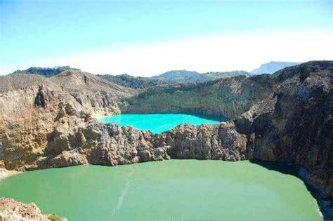danau kelimutu  indah  indonesia tempat wisata foto gambar wallpaper
