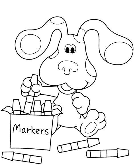 coloring free free printable blues clues coloring pages for