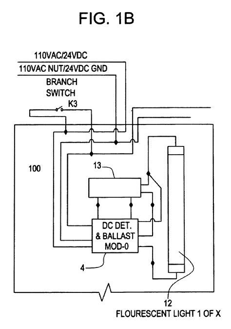 Lighting Inverter Wiring Diagram by Patent Us6628083 Central Battery Emergency Lighting