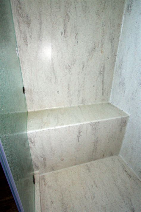 Corian Walls by Corian Seamless Shower Bench Pan Bathroom In 2019