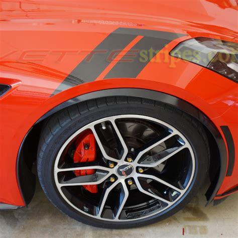 corvette stingray grand sport fender hash marks stripes