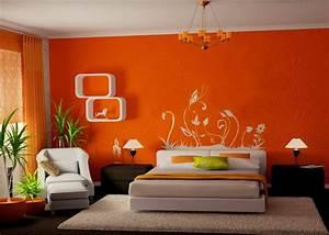 Conseils Dco Une Chambre Coucher Orange BricoBistro