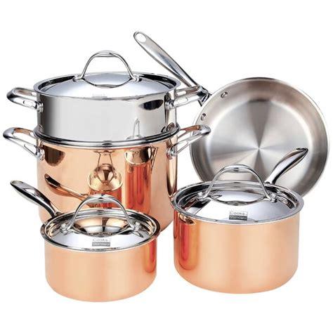 copper cookware cooks standard ply clad piece multi steel sets stainless kitchen wayfair hammered tri martellata skillet lagostina saucepan goods