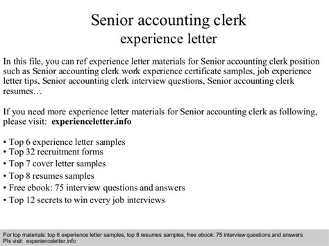 finance manager cover letter canada senior accounting clerk experience letter