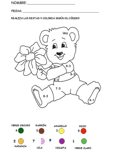 Colorear con sumas 22 Manualidades a Raudales