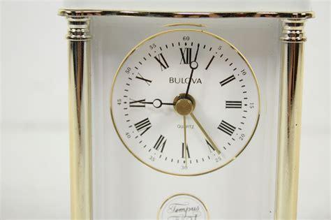bulova desk clock ebay vintage west german bulova tempus fugit white gold tone