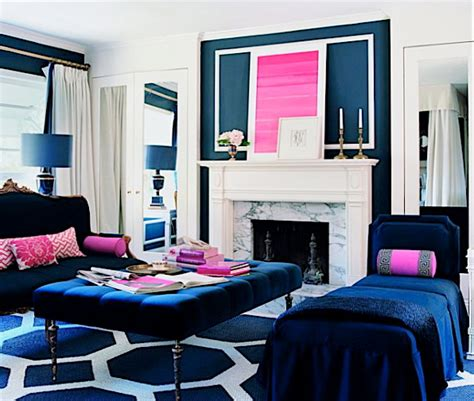 pink and blue bedrooms color crush navy fuchsia modshop style 16676