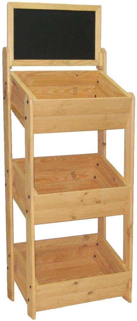 wood display stand chalkboard header
