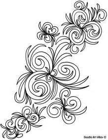 Abstract Swirl Coloring Pages