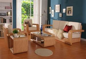 beautiful wood living room furniture with white foam for With furniture design of living room