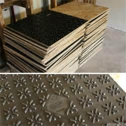 basement renovation dricore subfloor installation
