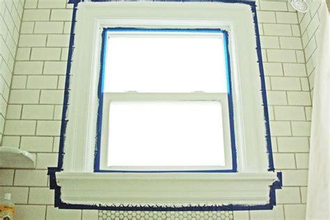 renovations painting wood window trim   shower