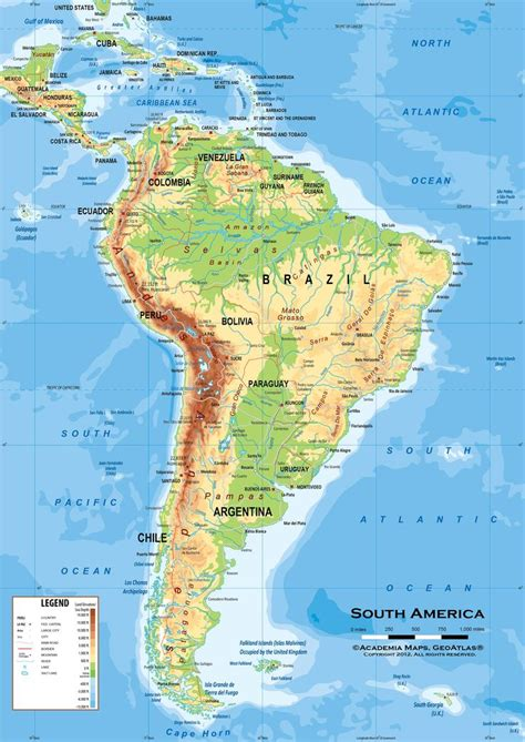latin america political map ideas  pinterest