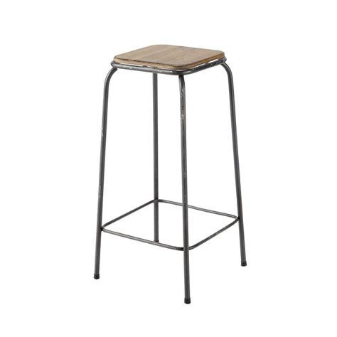 maison du monde chaise de bar tabouret de bar indus en bois et métal kraft maisons du