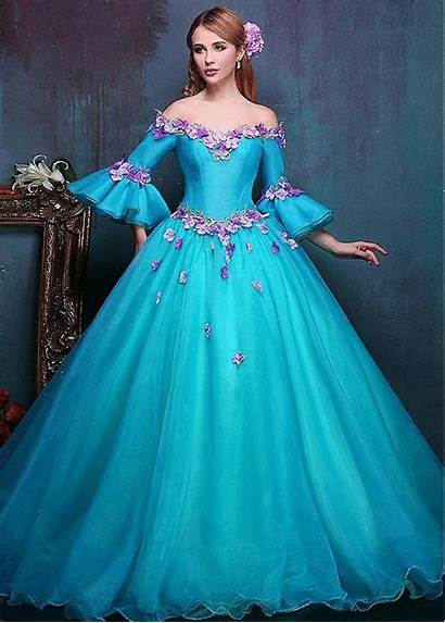 Gown Dresses Ball Prom Shoulder Gowns Flower
