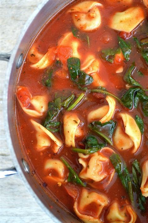 The Easiest & Best Tortellini & Spinach Soup Recipe