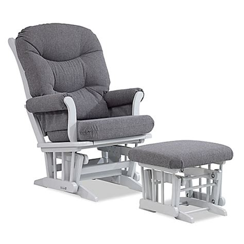 Sleigh Glider And Ottoman - dutailier 174 multi position reclining sleigh glider and