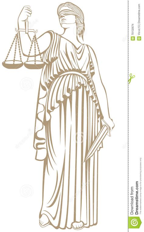 fair trial law lady justice themis stock vector image