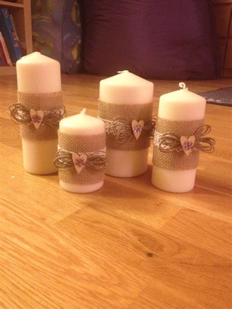 Candele Decorate candele decorate a mano miei lavori pillar candles e