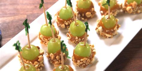 caramel apple grapes recipe    caramel