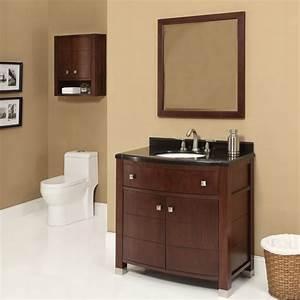 decolav adrianna 36 inch dark walnut bathroom vanity With dark walnut bathroom cabinet