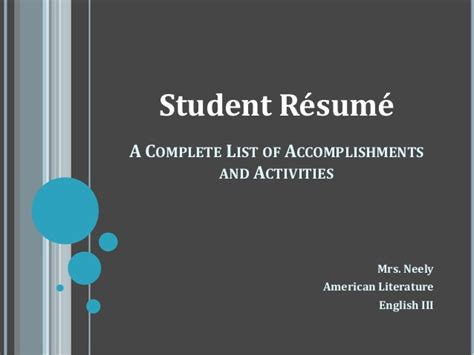 Resume Writing Powerpoint Slides by Colege Resume Ppt