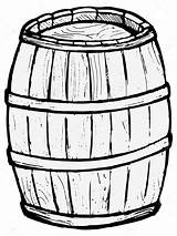 Barrel Wooden Drawing Vector Pages Illustration Keg Barrels Template Coloring Beer Sketch Background Simpsons Cliparts Depositphotos St Thanksgiving sketch template