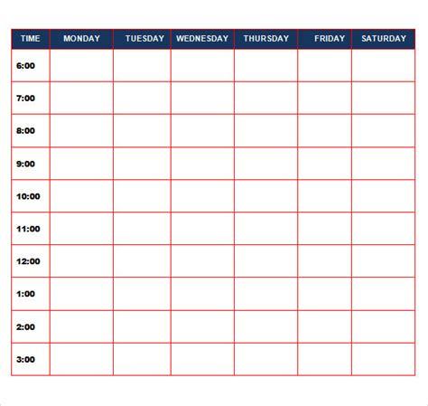 sample daily calendar templates sample templates