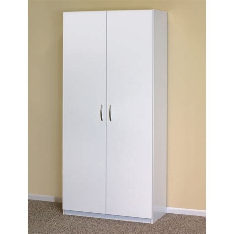White Freestanding Wardrobe by White Wardrobe Cabinet Clothing Closet Storage Modern