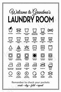 Customizable Laundry Symbols Print