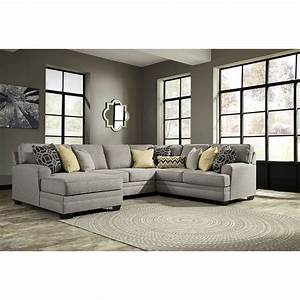 Benchcraft cresson contemporary 4 piece sectional with for 4 piece sectional sofas