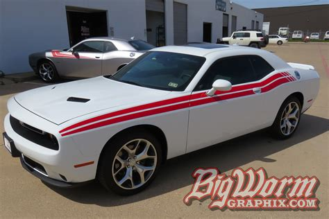 Red White And Blue Dodge Challenger