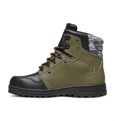 dc spt mens winter boots uk  military black