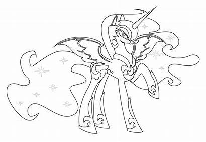 Coloring Pages Mlp Nightmare Moon Pony Colouring