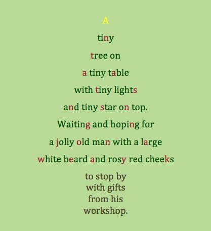 poem about a tiny christmas tree classroom ideas