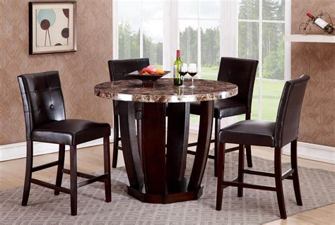 marble breakfast table sets ryan 5 pc faux marble round dinette set dining room sets