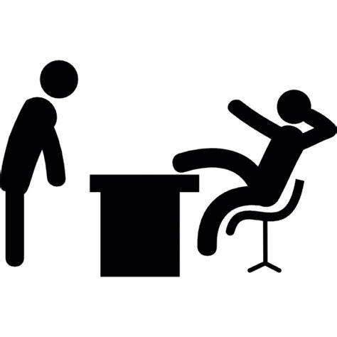 bureau du chef chef reposer une jambe sur bureau télécharger icons