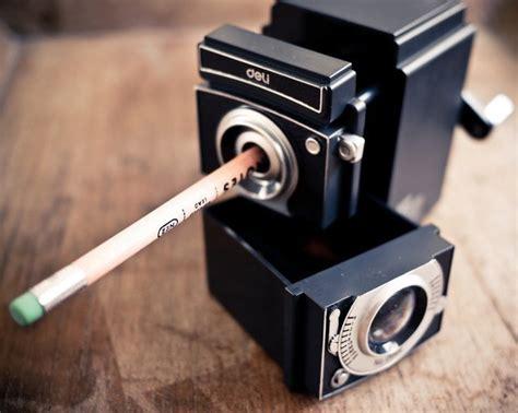 fancy vintage camera pencil sharpener