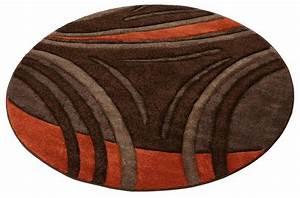 Teppich Rund Braun : teppich rund my home david handgearbeiteter ~ Lateststills.com Haus und Dekorationen