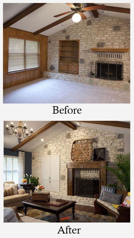 Living Room Paint Makeovers by Living Room Makeovers Before And After Paneling