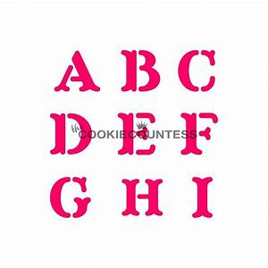 cookie countess alphabet block cookie stencil set tools With letter cookie stencils