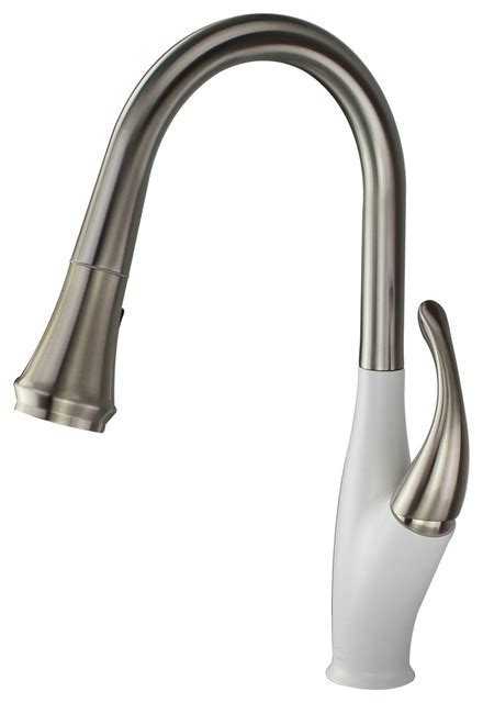 Layla Pull Out Brass Kitchen Faucet   Contemporary