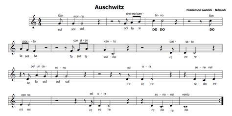musica  spartiti gratis  flauto dolce auschwitz