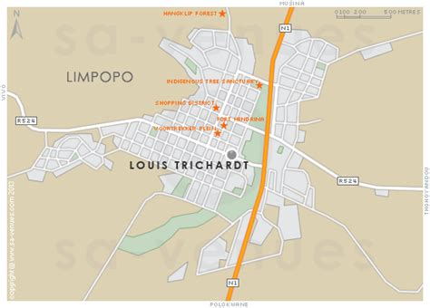 LOUIS TRICHARDT Map