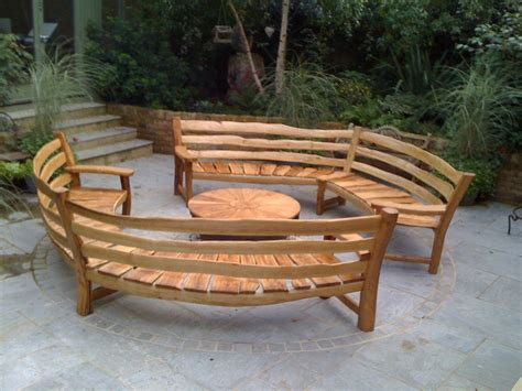 garden bench for curved oak garden benches