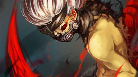 tokyo ghoul ken kaneki mask  desktop wallpaper animewpcom